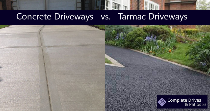 Concrete vs Tarmac