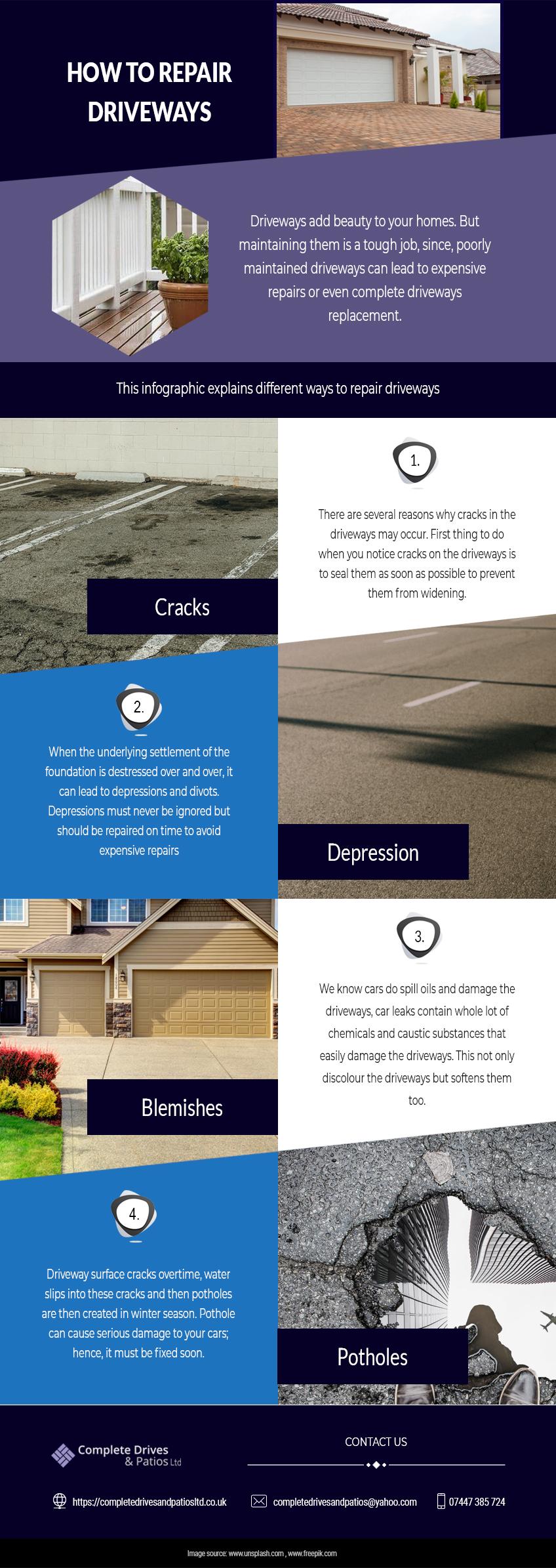 how to repair driveway