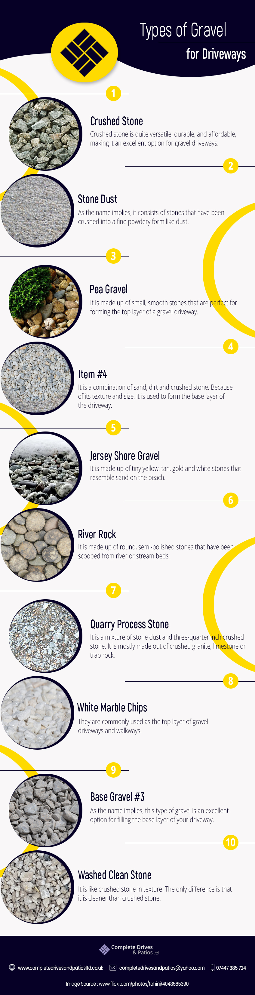 types of gravel